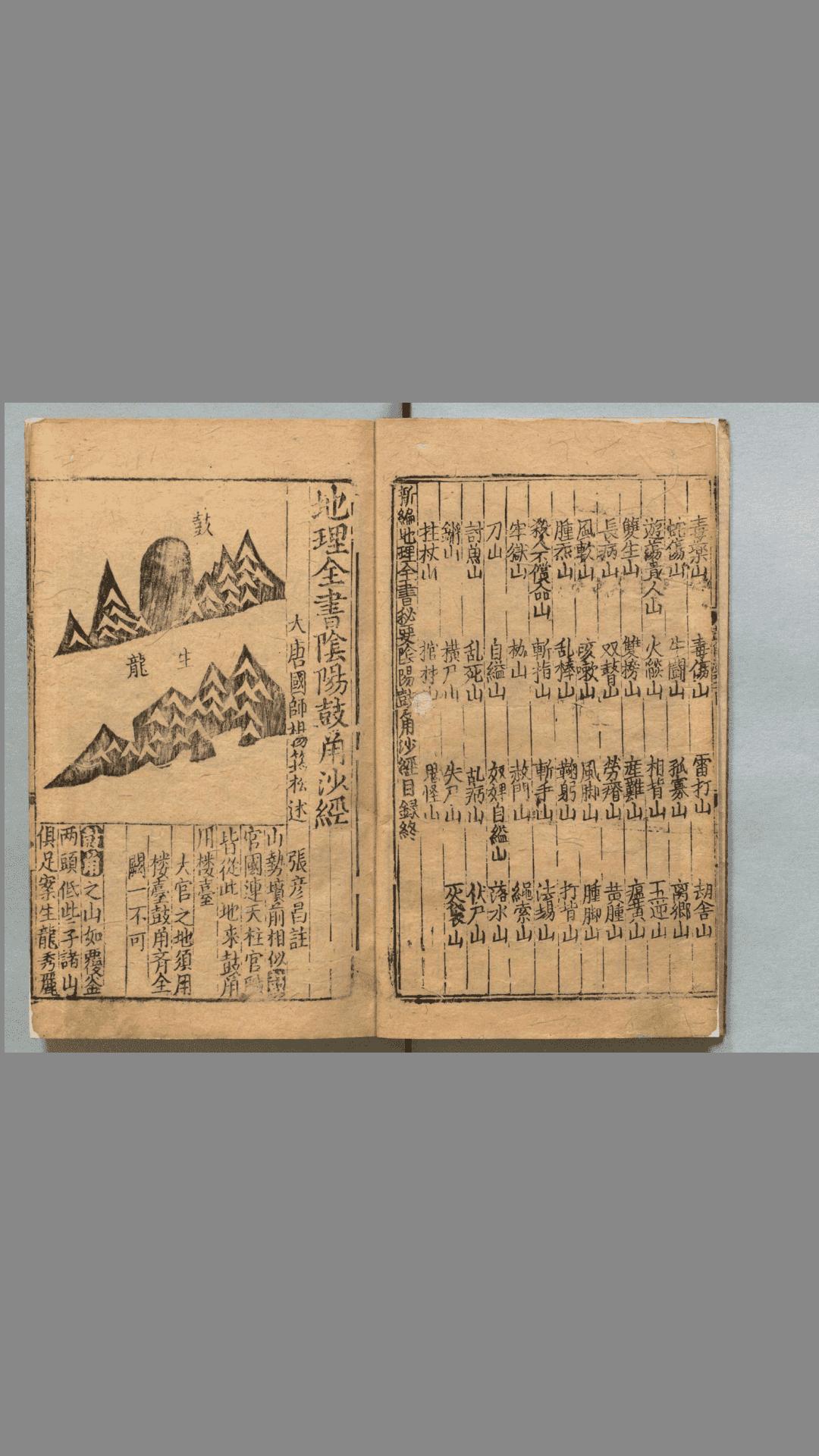 地理全书.3册.明.赵至和辑.明刊本插图1